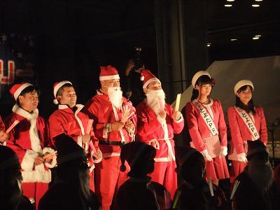 サンタさんと点灯式